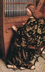 Jan van Eyck - Ołtarz Gandawski -  Anioły